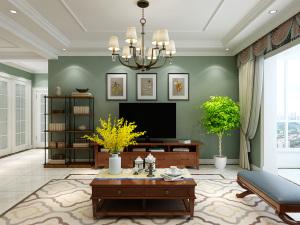 万达华府美式平层140㎡三室两厅全包