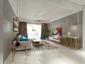 新区城市主人124㎡现代三室两厅全包15万