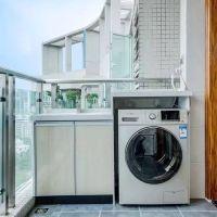美式风阳台洗衣机图片