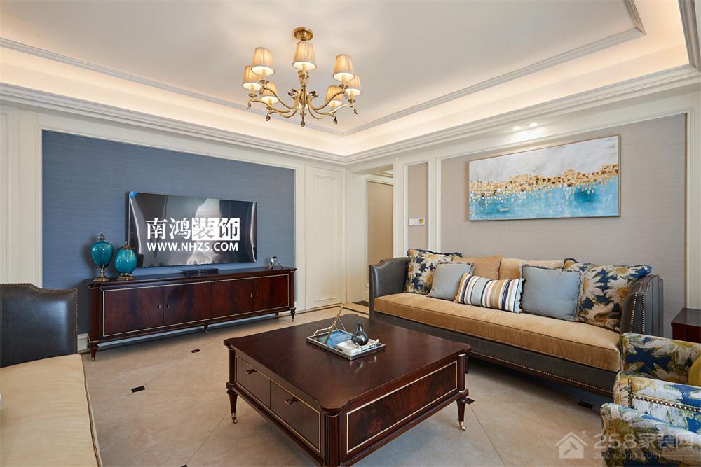  南鸿装饰 世纪新城 三居 125方 美式新古典