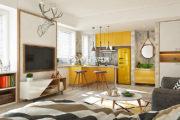 北欧风格黄色为主基调