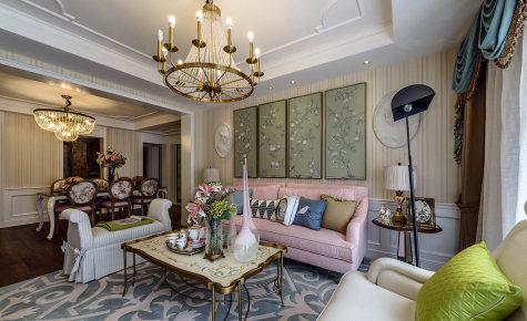 建发独墅湾230㎡美式复古风格装修