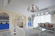 上堤公寓86平米复式三居室地中海风格装修效果图