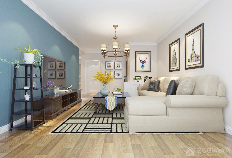 中海蓝庭 85㎡ 美式风格装修效果图