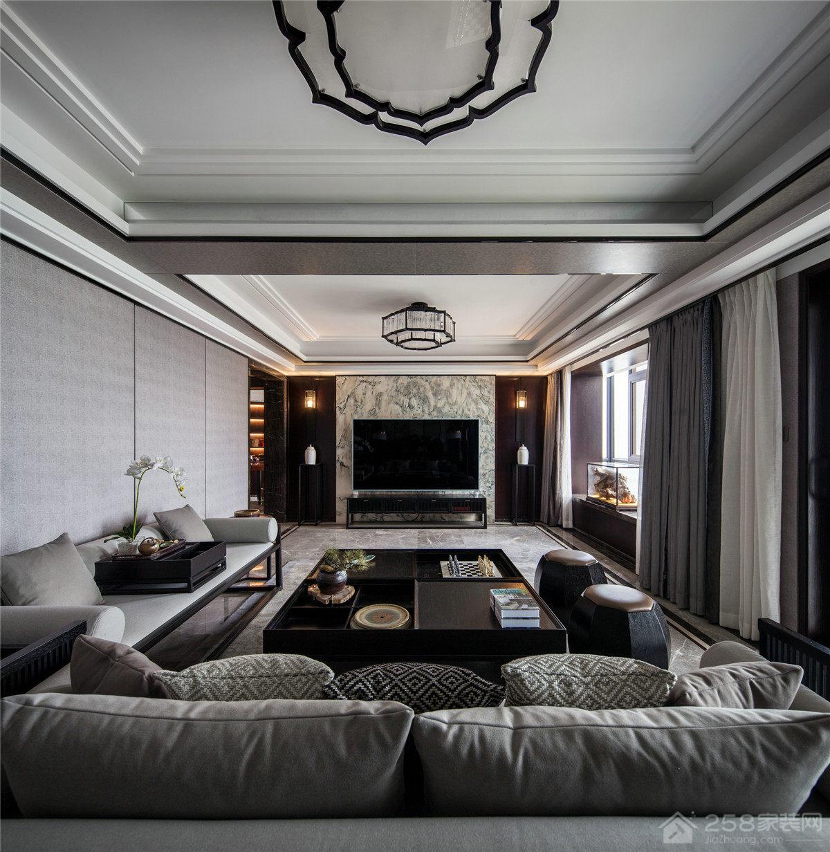青特赫山 新中式风格126平大包26万