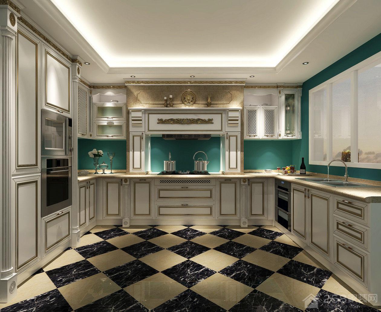 奢华大气厨房实木橱柜设计图