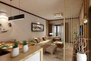 金华苑新中式风格二居装修效果图