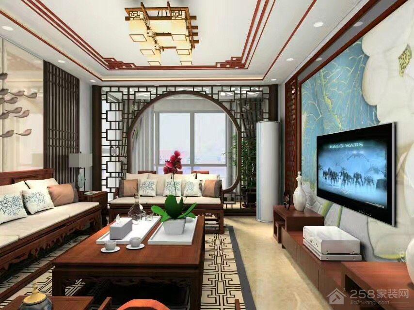豪布斯卡三居室中式风格