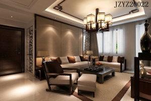星际湾三居室新中式风格装修