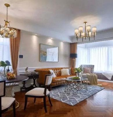亮瞎人眼的浪漫复古却又不失时尚的美式休闲三室