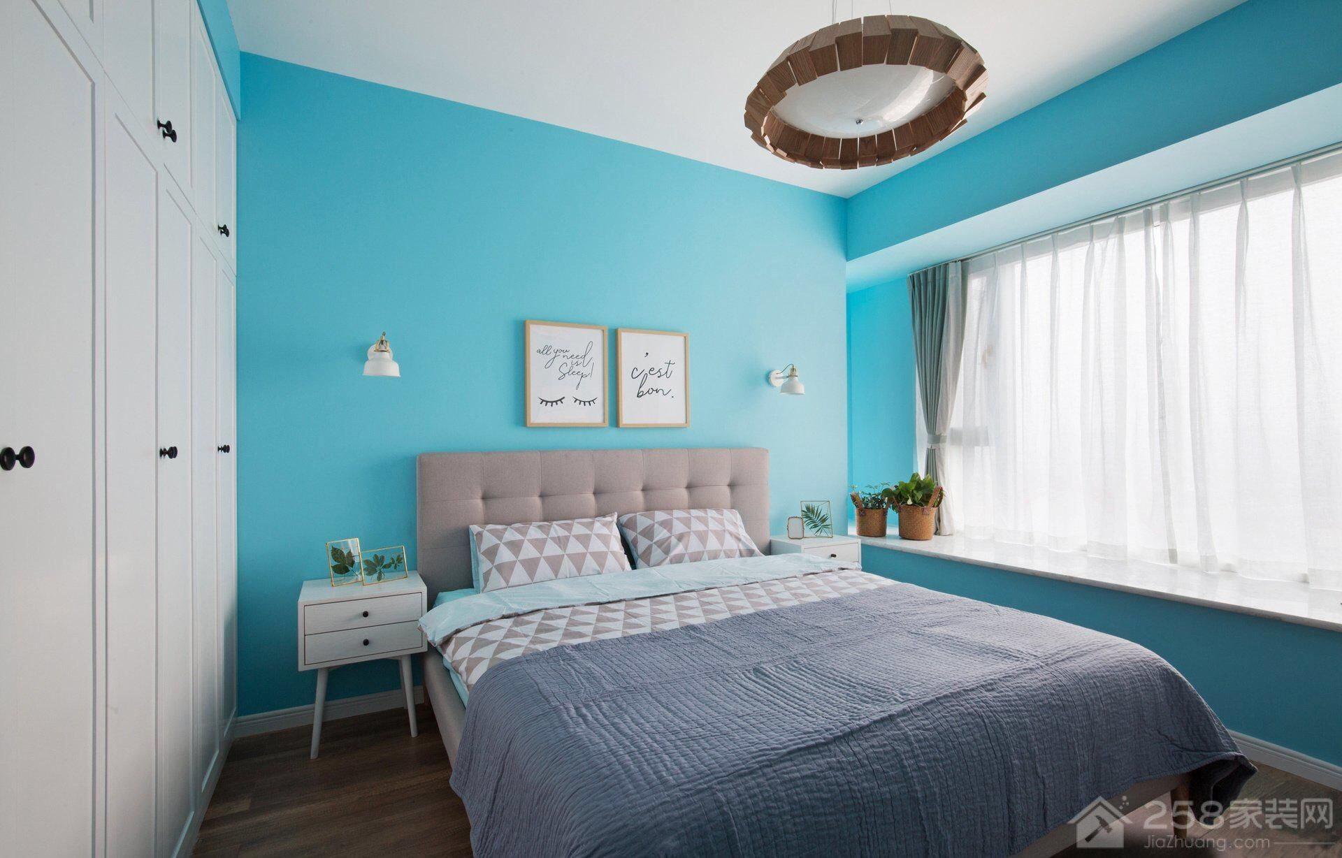 地中海风格卧室飘窗设计图片