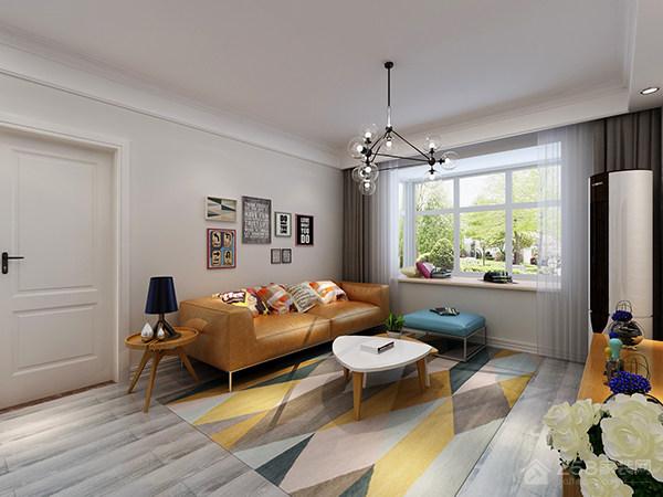 现代简约客厅皮质沙发图片