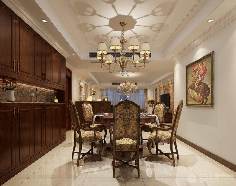 美式风格餐厅铜制吊灯图片