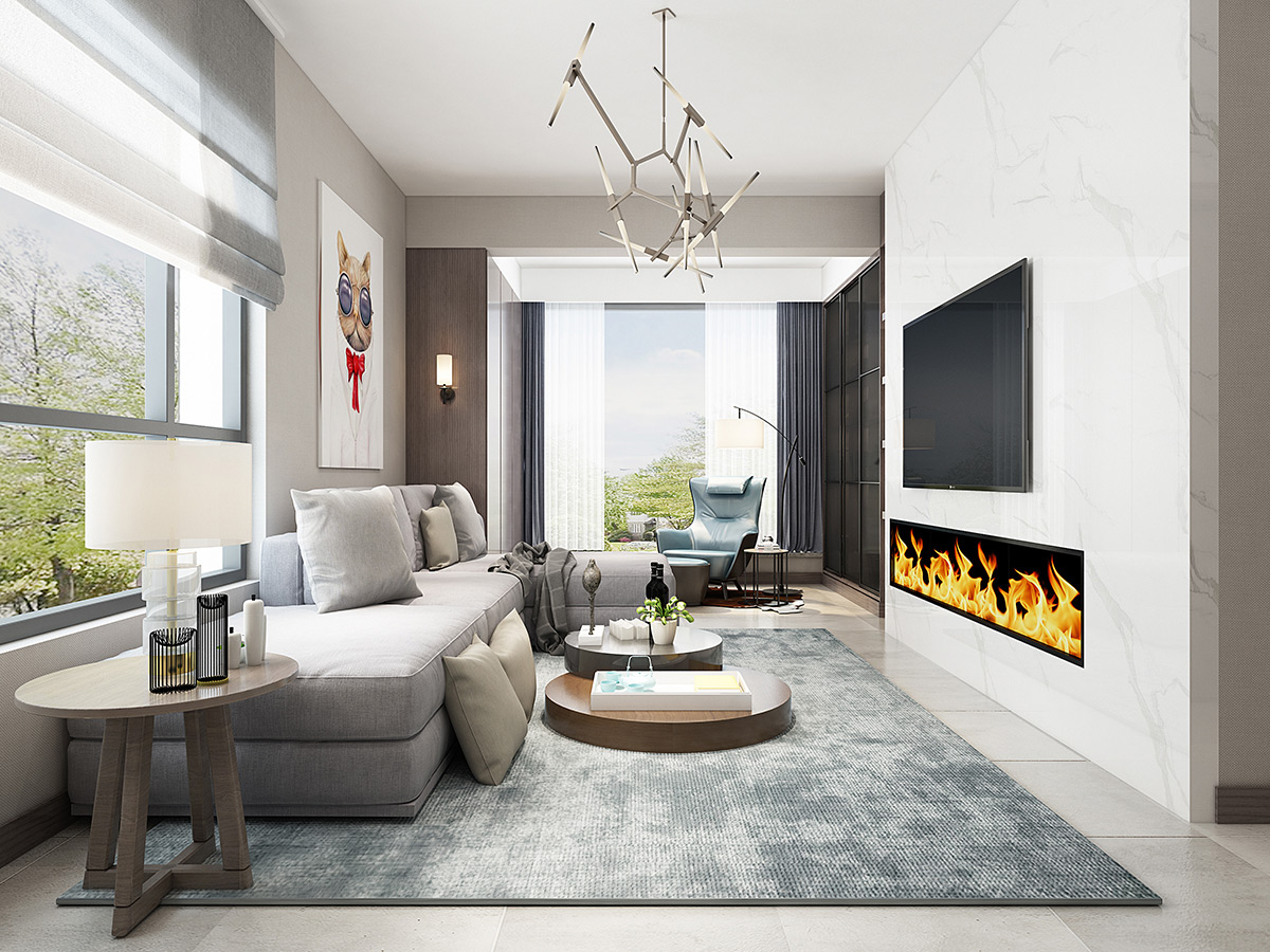 中德英伦世邦80㎡两居室北欧风格