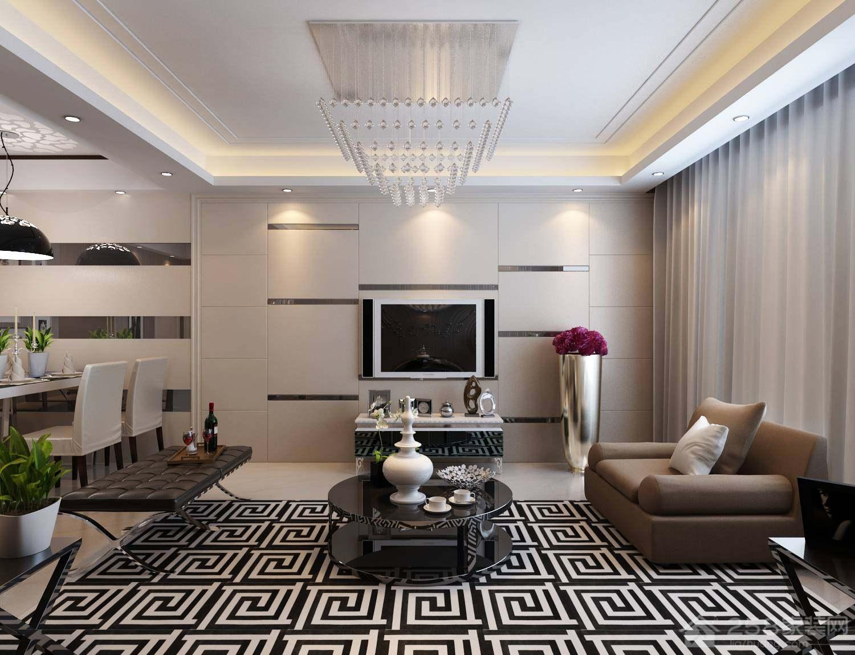奢华大气简欧客厅水晶吊灯设计效果图