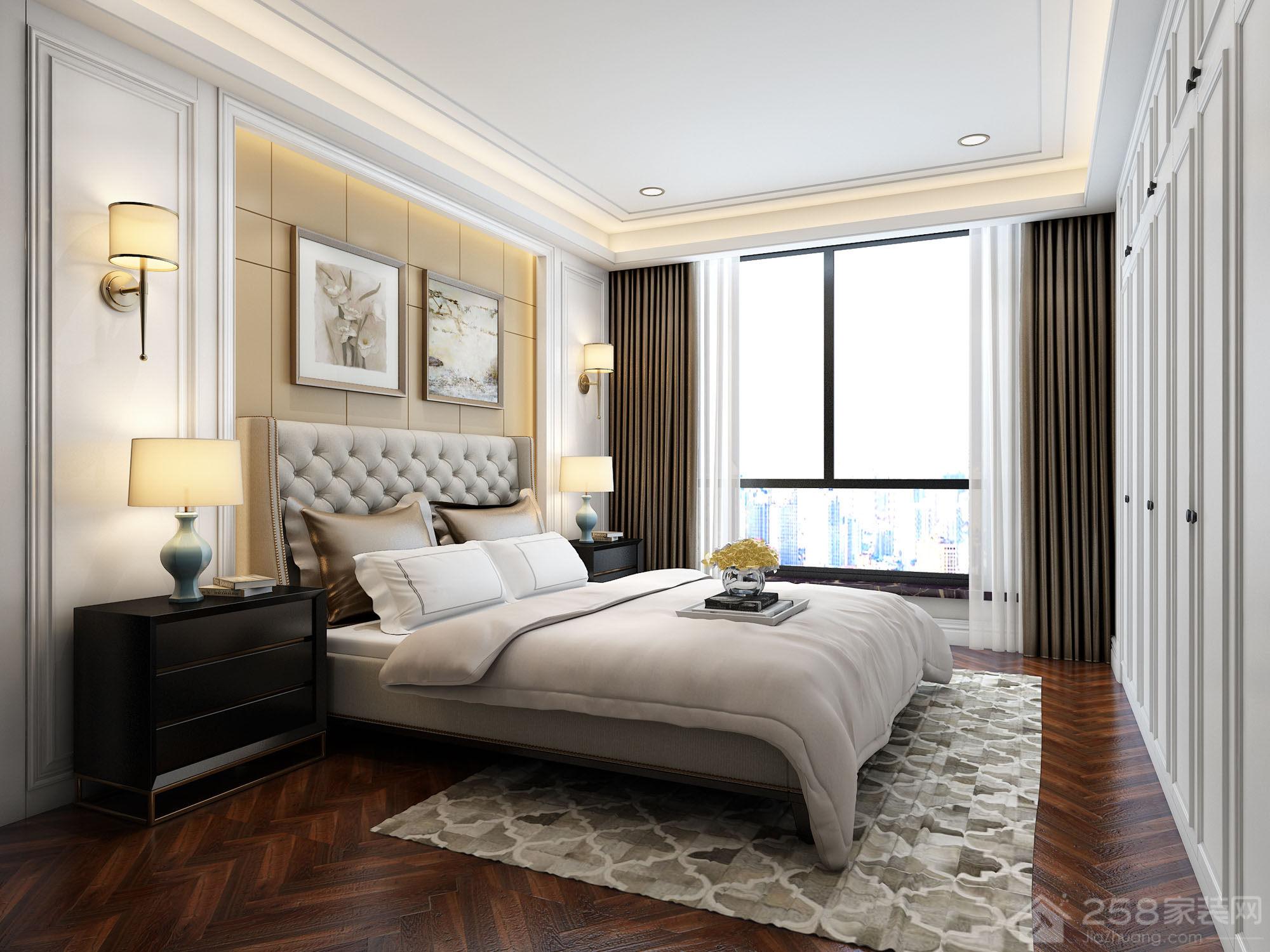 新中式风格卧室壁灯装饰图片