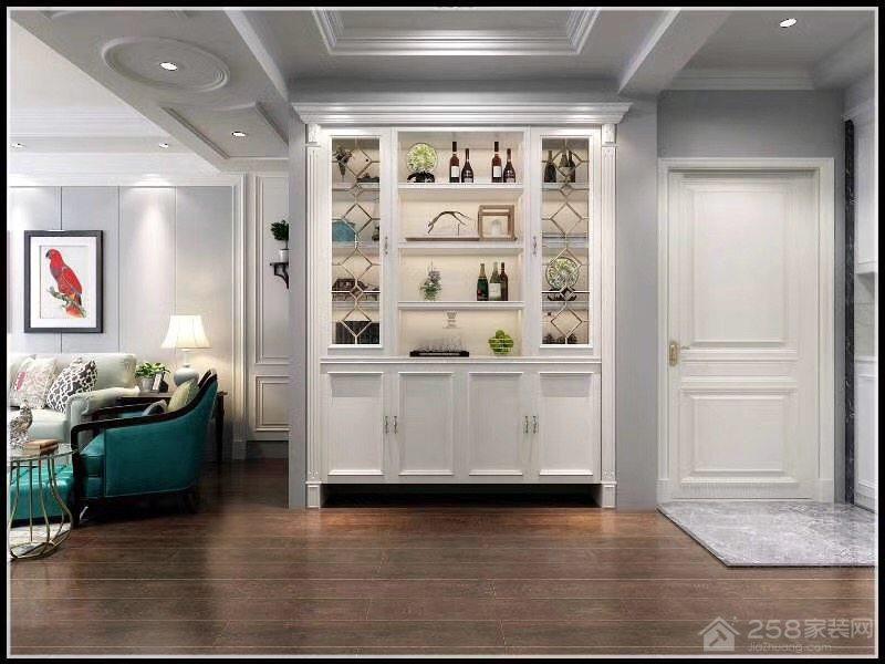 美式家居过道酒柜装饰图片