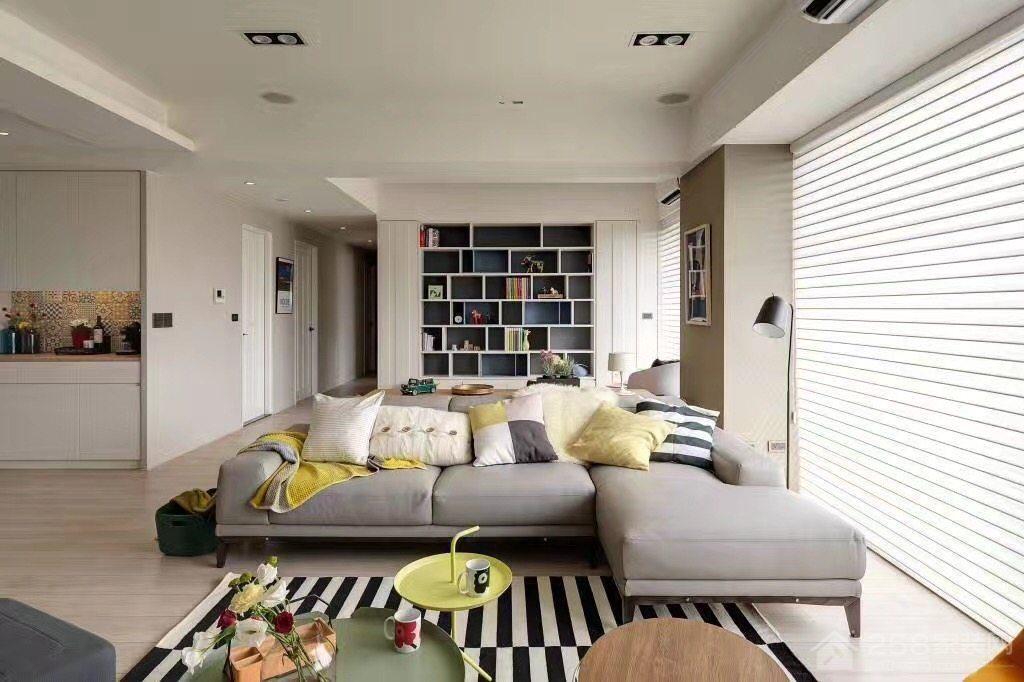 布艺简约现代客厅转角沙发图片展示