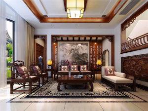 太湖相王府130㎡中式装修风格