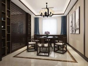 景山玫瑰园1期126㎡新中式装修风格