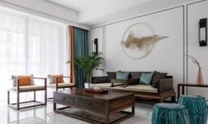 瀚河苑123㎡中式装修风格