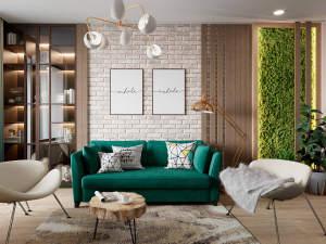 金色里程家园124㎡现代简约装修风格