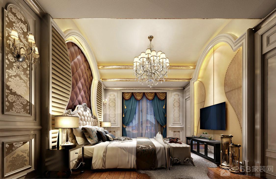 奢华欧式卧室水晶吊灯图片