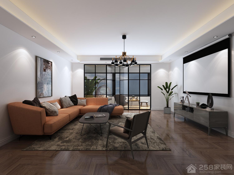 现代风格客厅布艺沙发组合图片