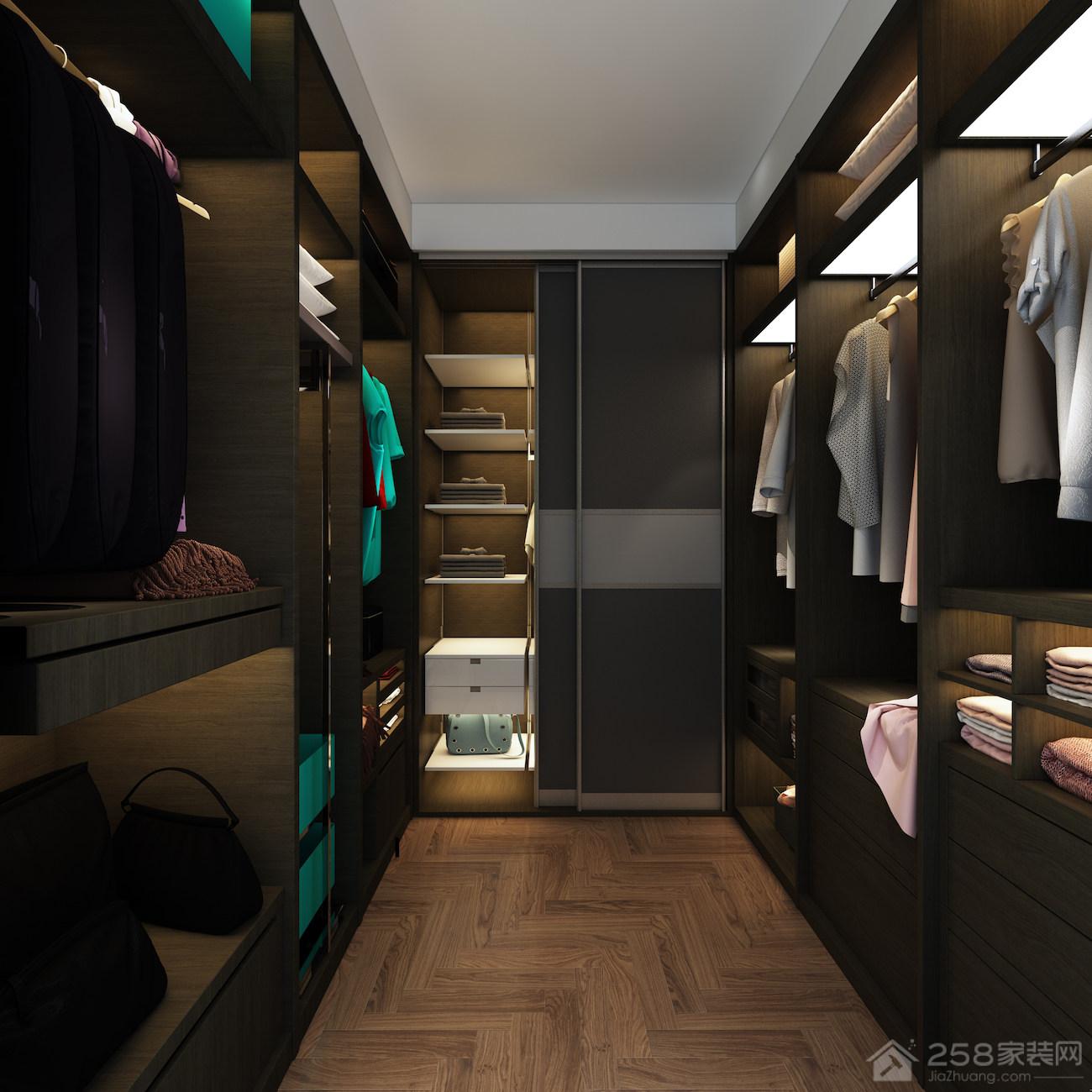 现代家居步入式衣帽间设计图片