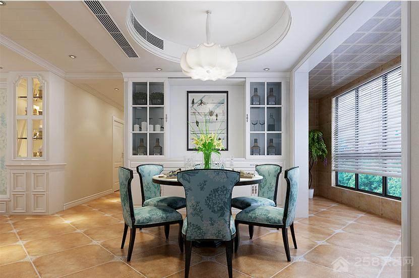 美式风格设计家庭餐厅效果图
