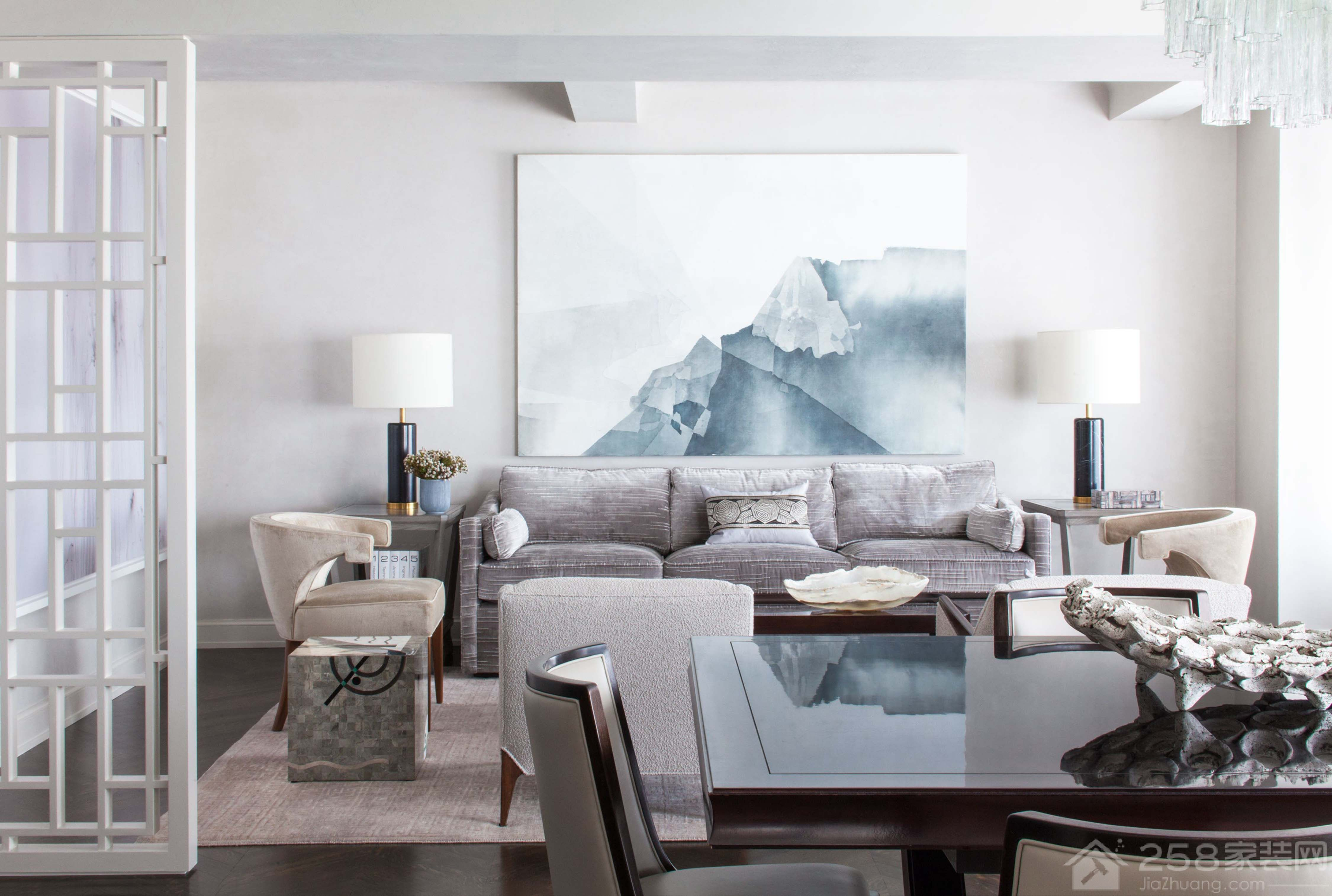 北欧风客厅沙发背景墙装饰画