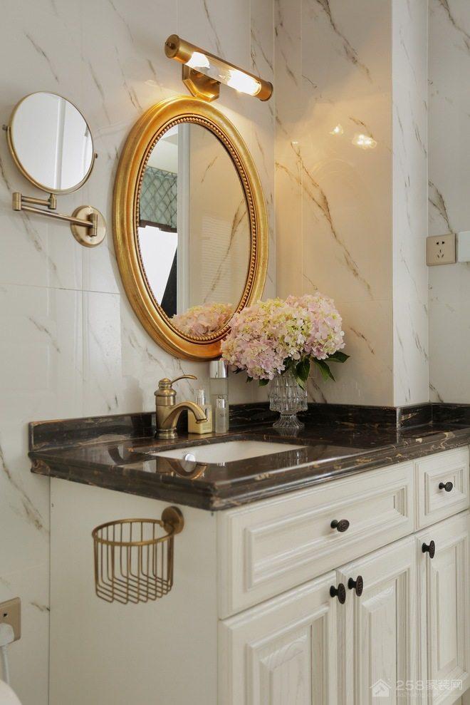 卫生间浴室柜大理石台面图片