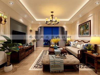 贵园御景-93m²-美式风格