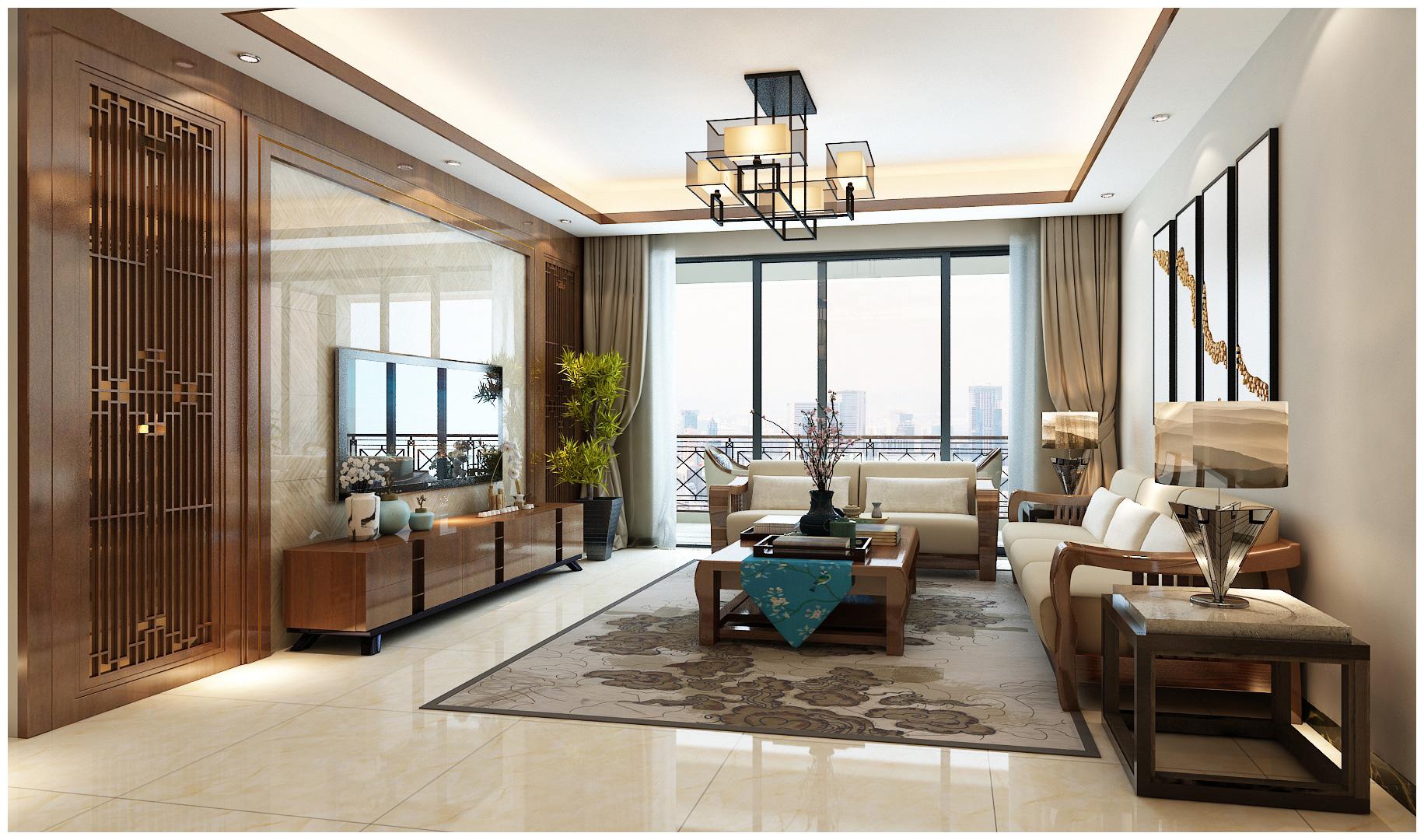 万达茂-新中式-三居室