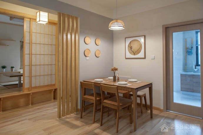 北欧风情餐厅四人餐桌展示图