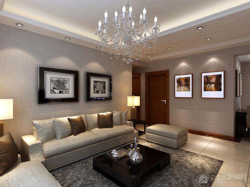 时尚奢华现代客厅水晶吊灯效果图