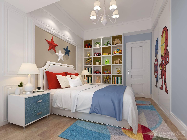 温馨舒适中性儿童房设计图