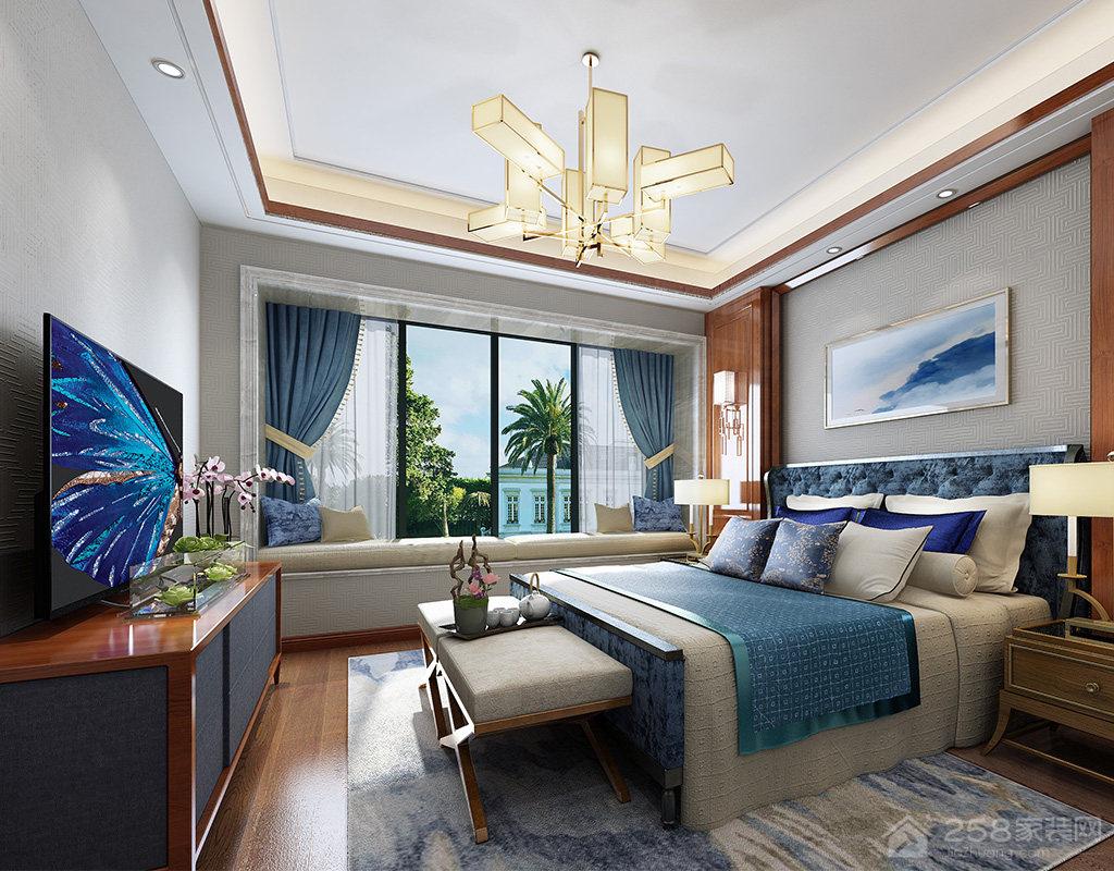 后现代传统中式卧室装修效果图