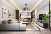 嘉怡国际135平米三室两厅现代小资风格