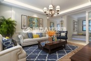 美林湾130平米三室两厅美式风格