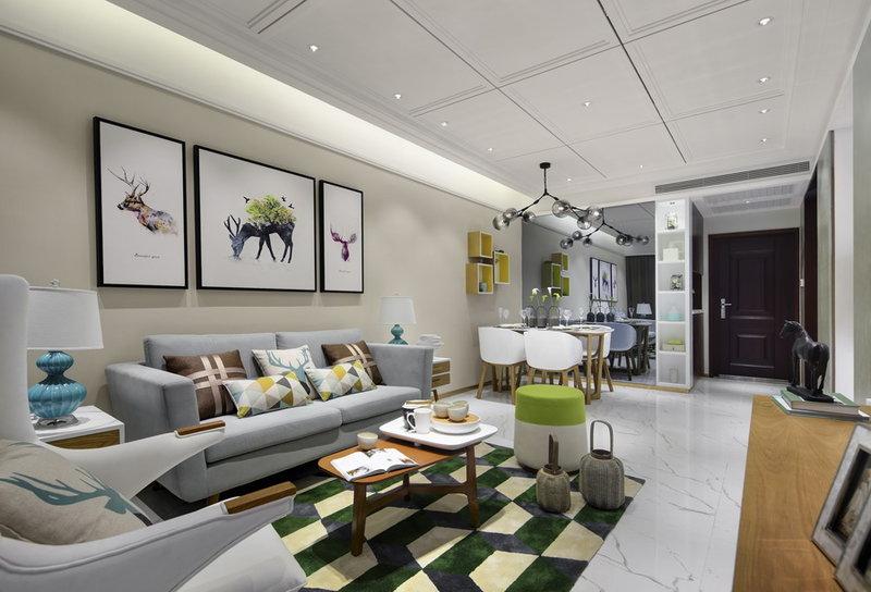 现代园墅200㎡北欧风格