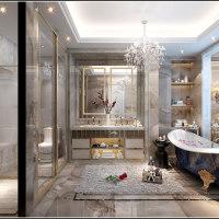 奢华欧式卫生间设计效果图
