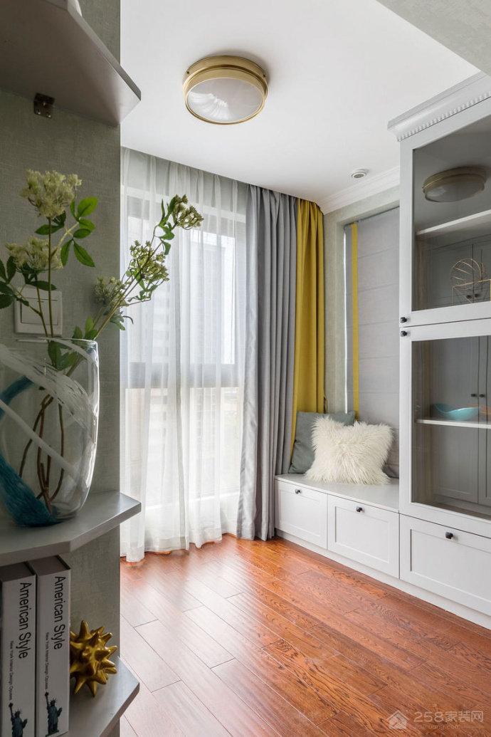 86平美式风格两居室