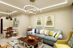 清新北欧风格正阳公馆90平两居室