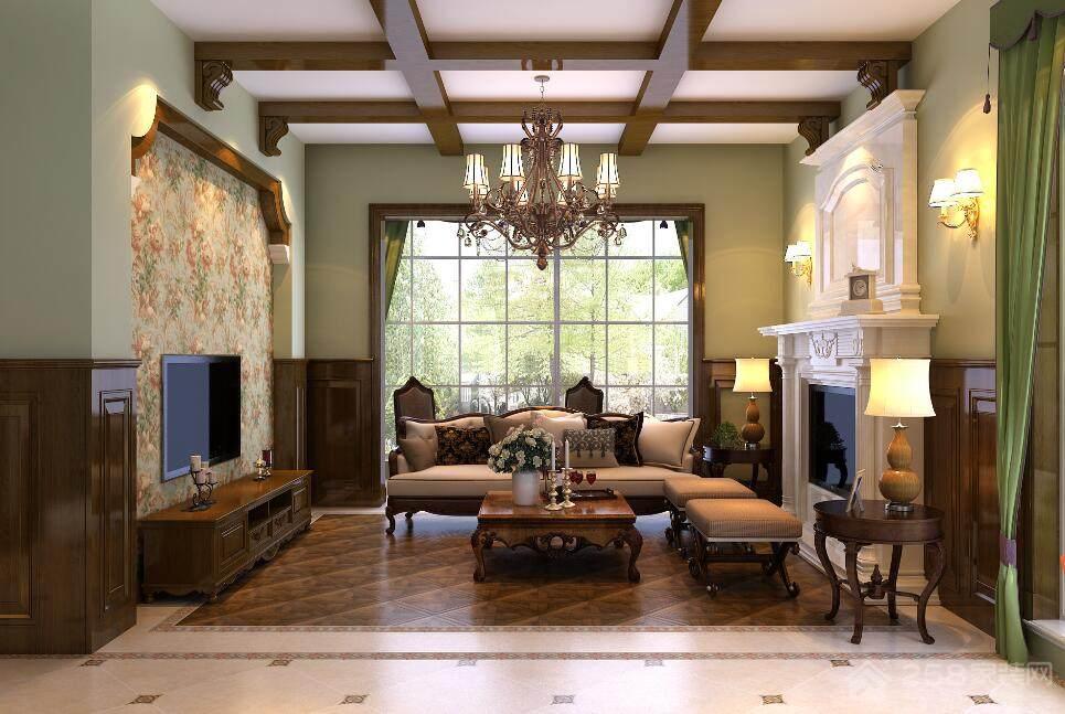 碧桂园300㎡古典美式风格