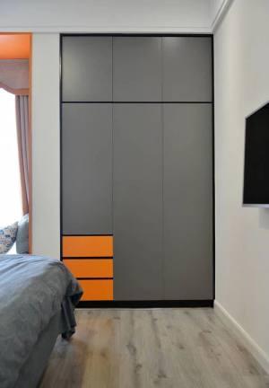 灰色与活力橙搭配的现代风格