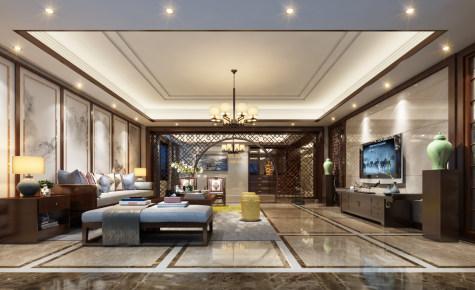 霞阳自建房新中式客厅