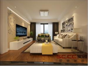 金地艺境144平四居室现代简约风格全包