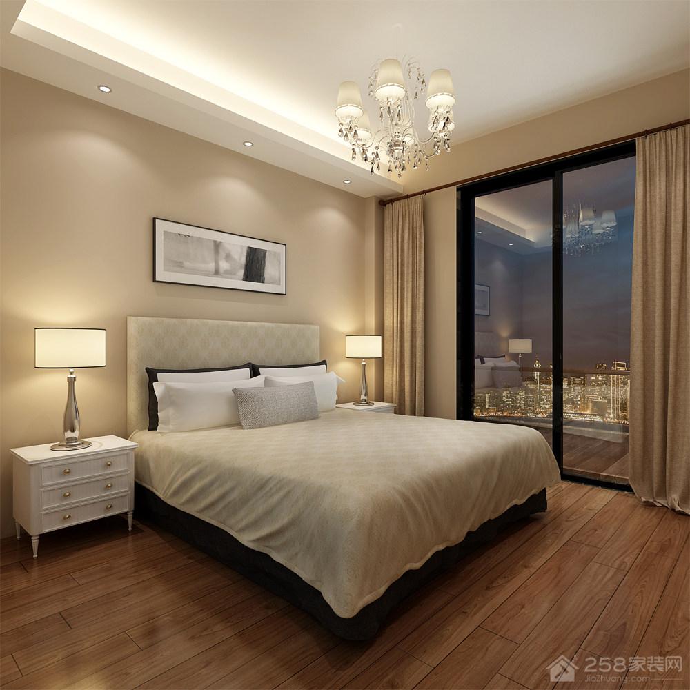 简约风格卧室白色实木床头柜图片