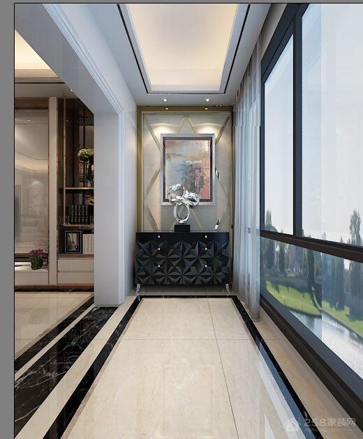 现代风格玻璃全封闭阳台设计图片